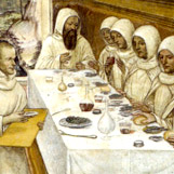 Mahlzeit in einem Benediktinerkloster
